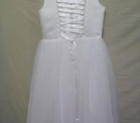 Продам детское нарядное платье, новое. Размер34, рост128, цвет айвори. Ручная вы. Полтава, Полтавская область. фото 4