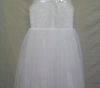 Продам детское нарядное платье, новое. Размер34, рост128, цвет айвори. Ручная вы. Полтава, Полтавская область. фото 3
