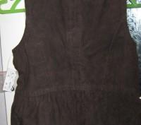 Новая фирменная замшевая жилетка, подкладка хлопок, размер 3-4 года. Привезена с. Чернігів, Чернігівська область. фото 3