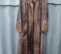 Женский кожаный натуральный плащ-пальто max mara. Балаклея. фото 1