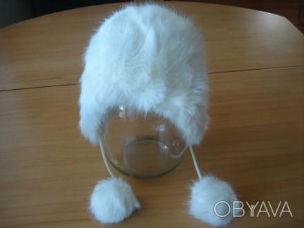 Детская зимняя шапочка с белого исскуственного меха, размер 50, новая, смотрите . Полтава, Полтавська область. фото 1