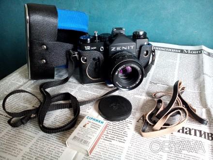 Фотоаппарат Зенит-12XP, в отличном состоянии, совсем не использовался, полная за. Сумы, Сумская область. фото 1