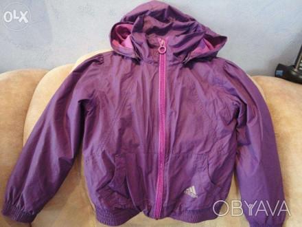 Курточка-ветровка Adidas для девочки 4-5 год.Состояние отличное,идет как термо-в. Полтава, Полтавская область. фото 1