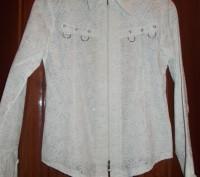 Красивая нарядная белая блуза для девочки 11-14 лет,украшена блестящими точками.. Полтава, Полтавская область. фото 2