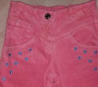 Классные вельветовые брюки кораллового цвета,фирма БЕМБИ,размер 116.Длинна боков. Полтава, Полтавська область. фото 2