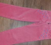 Классные вельветовые брюки кораллового цвета,фирма БЕМБИ,размер 116.Длинна боков. Полтава, Полтавська область. фото 4