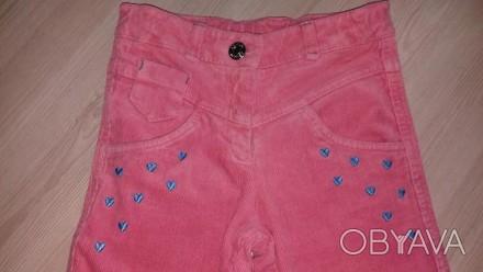 Классные вельветовые брюки кораллового цвета,фирма БЕМБИ,размер 116.Длинна боков. Полтава, Полтавська область. фото 1