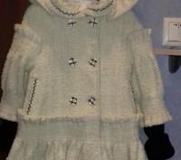 Красивое ВЕСНА-ОСЕНЬ пальто для девочки с капюшоном и беретом.К капюшону связали. Полтава, Полтавська область. фото 2