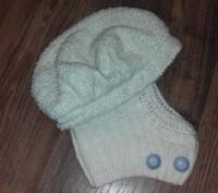 Красивое ВЕСНА-ОСЕНЬ пальто для девочки с капюшоном и беретом.К капюшону связали. Полтава, Полтавская область. фото 4