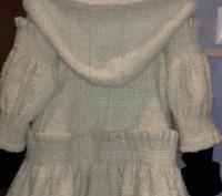 Красивое ВЕСНА-ОСЕНЬ пальто для девочки с капюшоном и беретом.К капюшону связали. Полтава, Полтавская область. фото 3