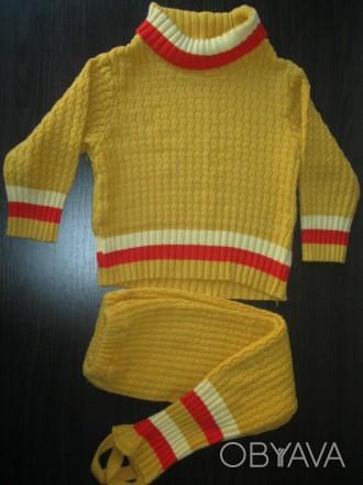 Состояние нормальное. Без дыр и пятен. На 2 - 3 года: штаны - 54 см., шаговый шо. Чернигов, Черниговская область. фото 1