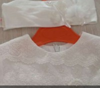 Платья очень красивое ,фирма daga .Размер указан 68,но мы одевали на 1 год.. Карлівка, Полтавська область. фото 3