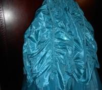 нарядное голубое платье в пол,на8 лет,на подкладке,по спинке молния,по бокам утя. Киев, Киевская область. фото 7