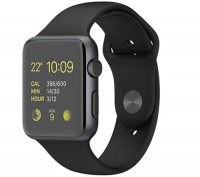 Apple Watch Sport 42mm Space Gray Black Sport Band. Аpple refurbished. Киев. фото 1