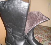 Сапоги женские зимние.Размер 40. Цвет черный. Натуральная кожа, мех натуральная . Полтава, Полтавская область. фото 3