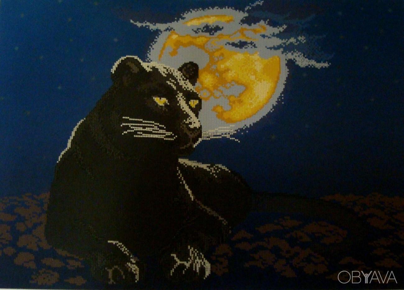 Вышивка бисером пантера фото
