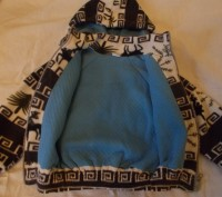 Красивая теплая кофта малышу 1-2 года в хорошем состоянии,с подкладкой и капюшон. Полтава, Полтавская область. фото 4