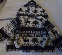 Красивая теплая кофта малышу 1-2 года в хорошем состоянии,с подкладкой и капюшон. Полтава, Полтавська область. фото 5