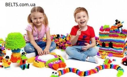 Детский конструктор Вязкий пушистый шарик - это разноцветные шарики, которые по. Киев, Киевская область. фото 3