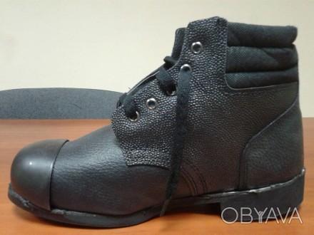 Рабочие ботинки с метноском и мягкой вставкой