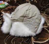 зимняя шапочка для девочки, новая 52 размер в наличии 2 шт. Козельщина, Полтавская область. фото 7