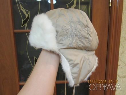 зимняя шапочка для девочки, новая 52 размер в наличии 2 шт. Козельщина, Полтавская область. фото 1