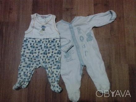 Хлопковые человечки в отличном состоянии для ребеночка примерно на 2-4 мес.. Каж. Сумы, Сумская область. фото 1