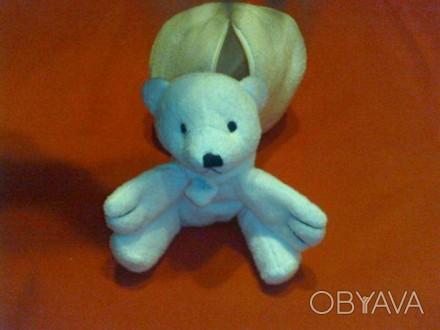 Оригинальная мягкая игрушка Белый медвежонок в берлоге. Параметры в собранном ви. Киев, Киевская область. фото 1