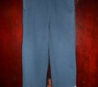 Темно  синие трикотажные штаны на 3 года,байка,с карманами,пояс  резинка,в отли. Киев, Киевская область. фото 2