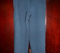 Темно  синие трикотажные штаны на 3 года,байка,с карманами,пояс  резинка,в отли. Киев, Киевская область. фото 3