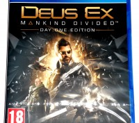 Deus Ex Mankind Divided Day One Edition PS4 диск новый / РУССКИЙ. Запорожье. фото 1