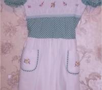 Платье ретро для девочки, настоящая фирма КНР Дружба, состав хлопок+полиэстр, ра. Запорожье, Запорожская область. фото 2