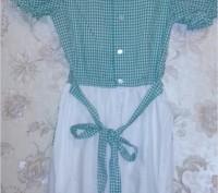 Платье ретро для девочки, настоящая фирма КНР Дружба, состав хлопок+полиэстр, ра. Запорожье, Запорожская область. фото 3
