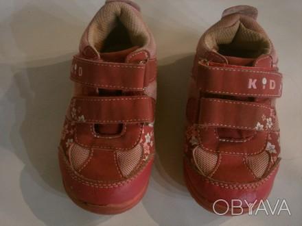 кроссовки детские размер 23, длина стельки 15 см, состояние хорошее ,Застежки на. Полтава, Полтавская область. фото 1