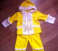 Теплый костюмчик для девочки на два года. В идеальном состоянии. Одевали один ра. Кременчуг, Полтавская область. фото 2