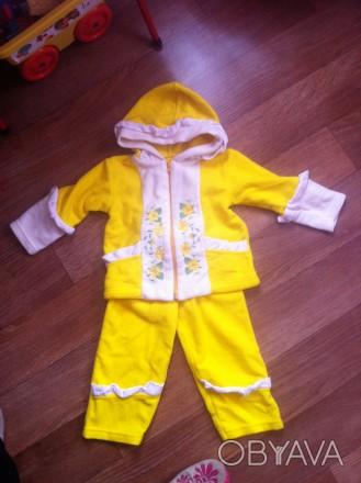 Теплый костюмчик для девочки на два года. В идеальном состоянии. Одевали один ра. Кременчуг, Полтавская область. фото 1
