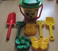 Наборы игрушек в отличном состоянии. Для игры в песочнице малышам от года и стар. Киев, Киевская область. фото 2