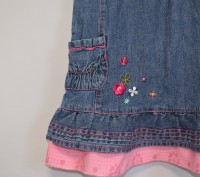 Симпатичный джинсовый сарафанчик для Вашей модницы на 12/18 мес, состояние идеал. Кременчуг, Полтавская область. фото 5