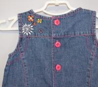 Симпатичный джинсовый сарафанчик для Вашей модницы на 12/18 мес, состояние идеал. Кременчуг, Полтавская область. фото 7