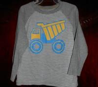 1)Полосатая футболка на 2 г.,рост 92 см.,спинка длиннее переда,в хорошем состоян. Киев, Киевская область. фото 4