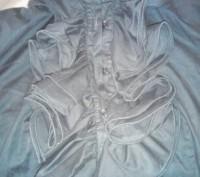 симпатичная рубашка,хлопок, воланы , широкий манжет на 2 пуговицы, размер 44 , н. Черкаси, Черкаська область. фото 3