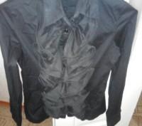 симпатичная рубашка,хлопок, воланы , широкий манжет на 2 пуговицы, размер 44 , н. Черкассы, Черкасская область. фото 2