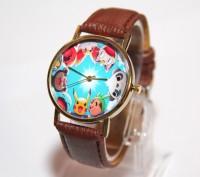 часы с покемоном  Тип материала окна циферблата: Стекло Материал циферблата: . Житомир, Житомирская область. фото 5
