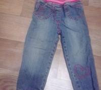 Утепленные джинсы для девочки early days на резинке на рост 74 см. Подходят ребе. Кременчуг, Полтавская область. фото 2