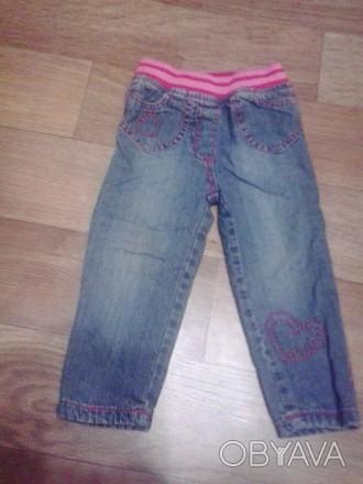 Утепленные джинсы для девочки early days на резинке на рост 74 см. Подходят ребе. Кременчуг, Полтавская область. фото 1