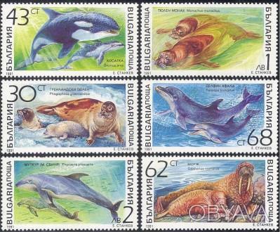 Болгария - морские млекопитающие   1991 г.в. MI# 3959 - 3964 MNH XF  Полная сери. Одесса, Одесская область. фото 1