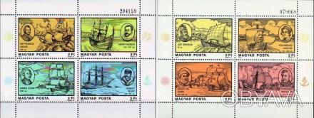 Венгрия - корабли известных мореплавателей   1978 г.в. Michel Number: Block 131-. Одесса, Одесская область. фото 1