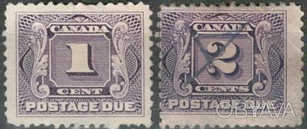 Канада 1906   1906 г.в Sc# J1-J2 USED / F/VF Postage Due Stamps . Одесса, Одесская область. фото 1