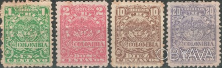 Колумбия 1902   1902 г. Sc#257-258, 260-261 UNUSED, G/VG, F/VF . Одесса, Одесская область. фото 1