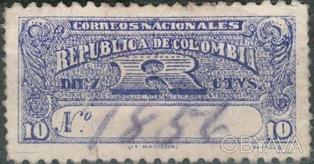 Колумбия 1909   1909 г. Sc#F21 USED, F/VF . Одесса, Одесская область. фото 1